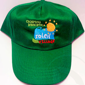 Gorras bordadas camping resorts vilage