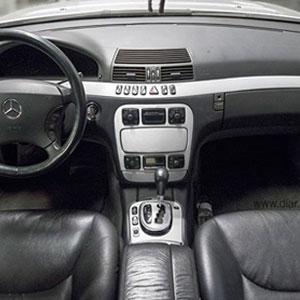 Rotulación interior mercedes benz aluminio cepillado