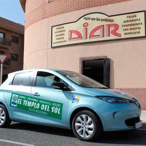 Rotulación coche renault electrico