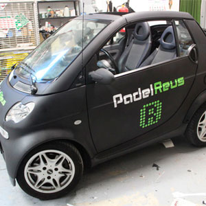 Rotulación integral car wrap wrapping negro mate