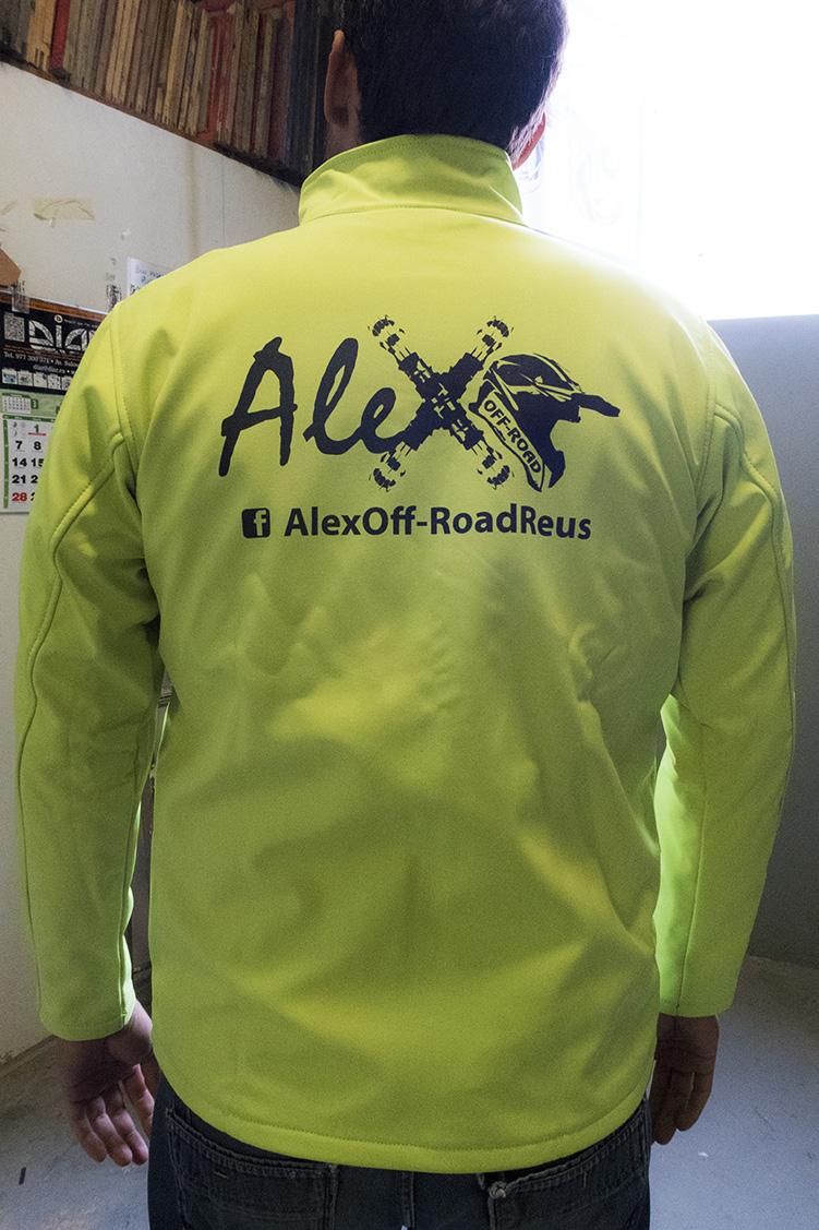 Alex off-road detras CHAQUETAS SOFTSHELL amarillo fluor