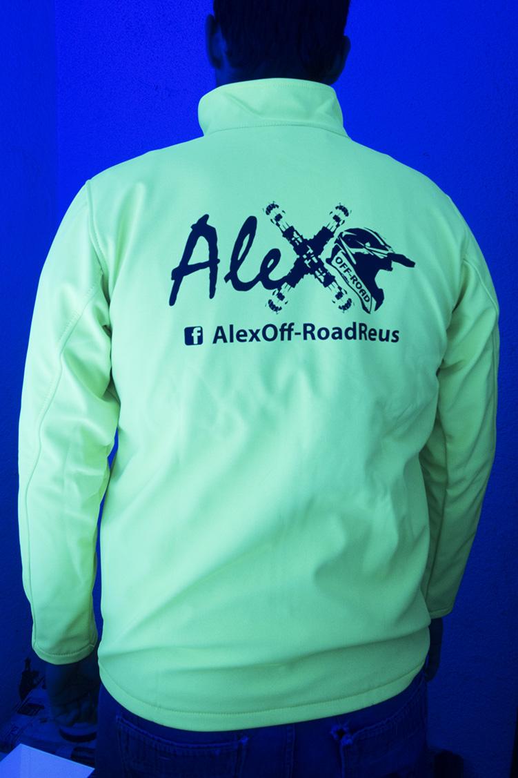 Alex off-road detras fluor CHAQUETAS SOFTSHELL