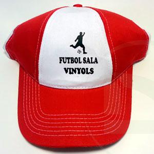 Serigrafia gorra personalitzada club