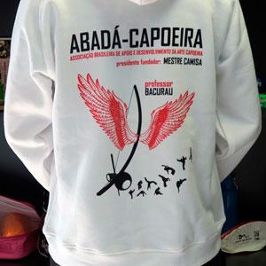 serigrafía textil sudadera capoeira