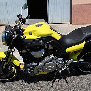 yamaha mt01 Rotulación integral amarillo y vinilo carbono