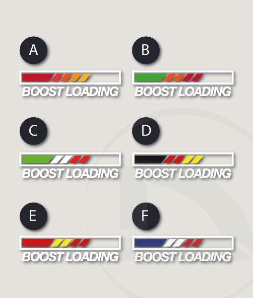 Pegatina vinilo stikers Boost loading con banderas