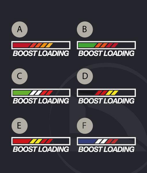 Pegatina vinilo sticker Boost loading con banderas