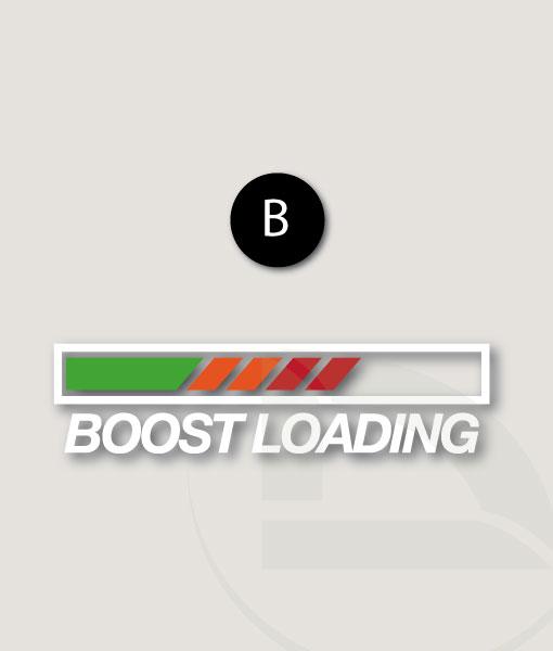 Pegatina Boost loading con carga verde naranja y rojo