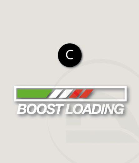 Pegatina Boost loading con bandera Italiana