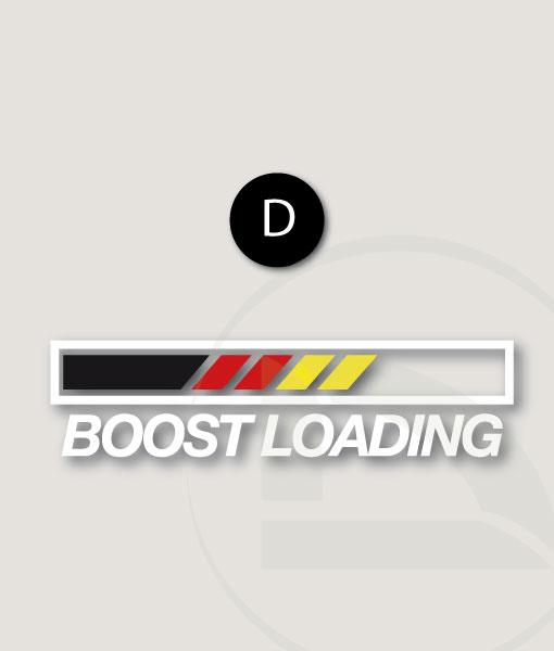 Pegatina Boost loading con bandera Alemana