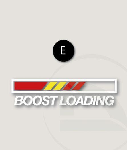 Pegatina Boost loading con bandera española