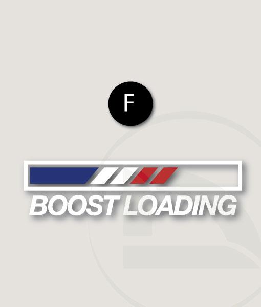 Pegatina Boost loading con bandera Francesa