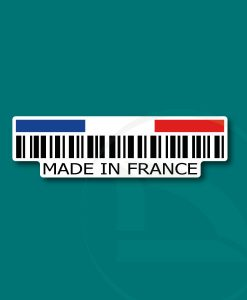 Código de barras Made in France pegatina vinilo adhesivo sticker