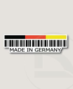 Código de barras Made in Germany pegatina vinilo adhesivo sticker