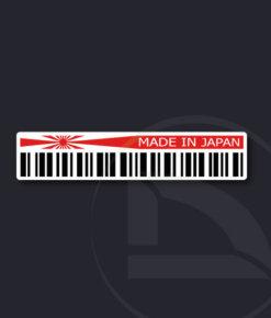 pegatina vinilo Código de barras Made in Japan con bandera japonesa sol naciente