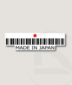 Código de barras Made in Japan pegatina vinilo adhesivo