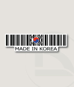 Código de barras Made in Korea pegatina vinilo