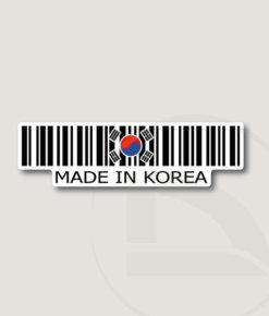 Código de barras Made in Korea pegatina vinilo