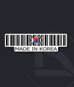 pegatina vinilo  Código de barras Made in Korea sticker