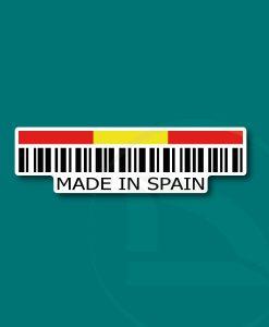 Código de barras Made in Spain pegatina vinilo adhesivo