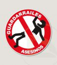 Pegatina Stop Guardarrailes Asesinos