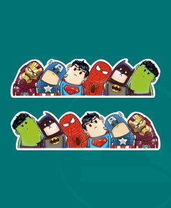 Super heroes marvel vengadores pegatina inclinación cabezas vinilo sticker adhesivo
