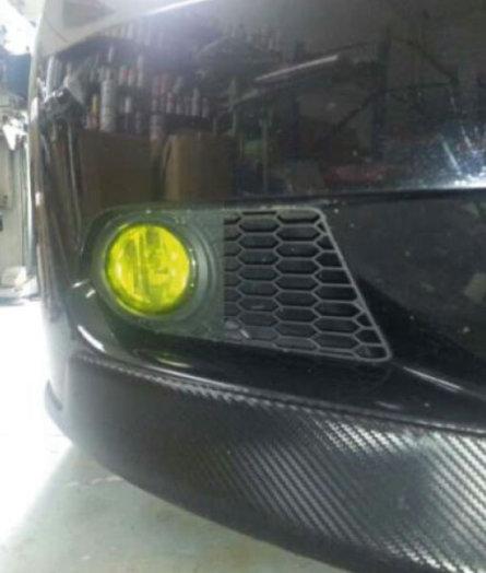 Vinilo amarillo antiniebla BMW
