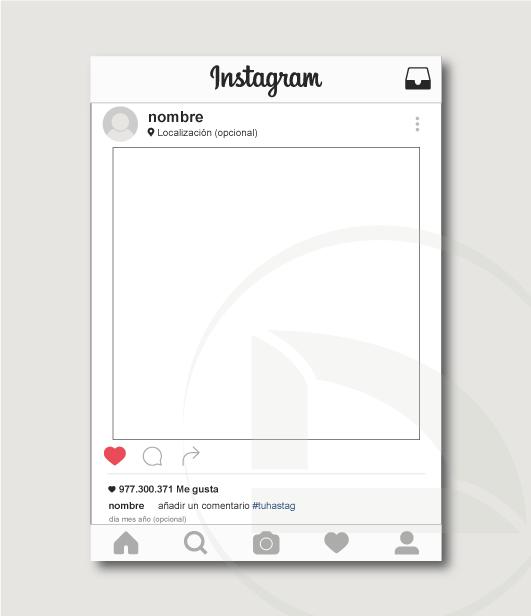 Vinilo photocall instagram blanco