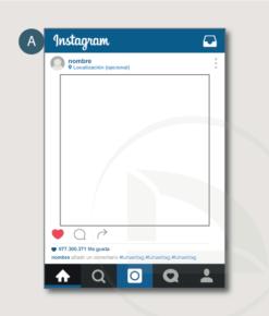 Vinilo photocall instagram azul