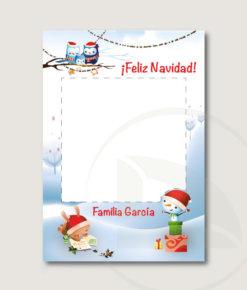 Vinilo marco Photocall navidad infantil