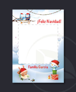 Vinilo Photocall navidad infantil