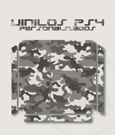 Vinilo skin consola PS4 camuflaje urbano