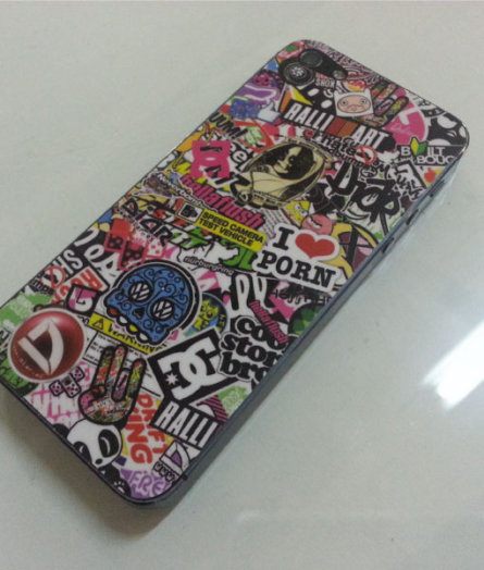 Iphone sticker bomb
