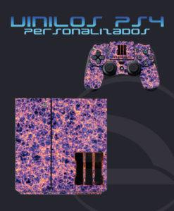 Vinilo consola y mando ps4 camuflaje Materia Oscura