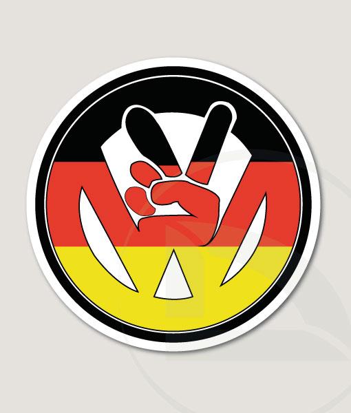 VW volkswagen paz con bandera alemana pegatina vinilo adhesivo