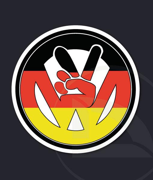 VW volkswagen paz con bandera alemana pegatina vinilo sticker